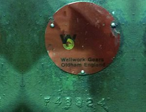 Wallwork Gearbox Rating Plate 2
